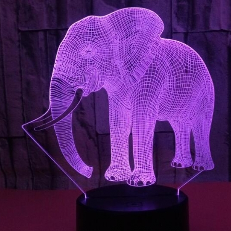 Elephant effect with 3D touch switch night light