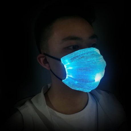 Replaceable filter element LED fiber light face mask (No. M-63S)