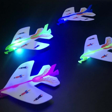 Luminous Slingshot Foam Plane