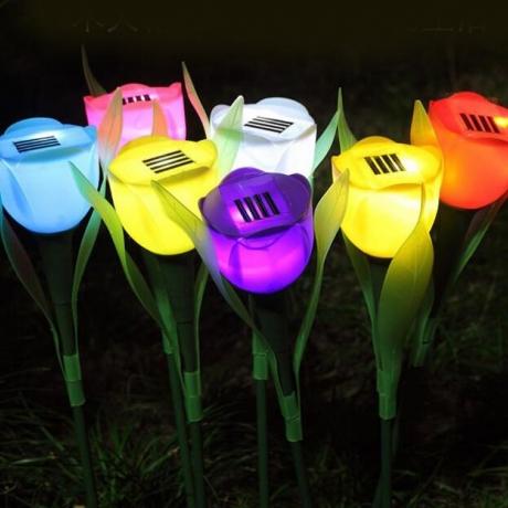 Garden solar tulip lamp