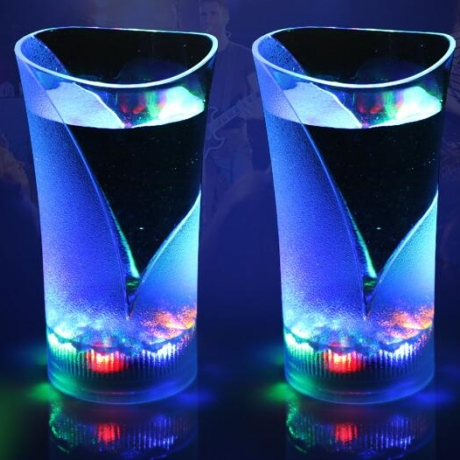 Seven color beverage inductive luminous cup