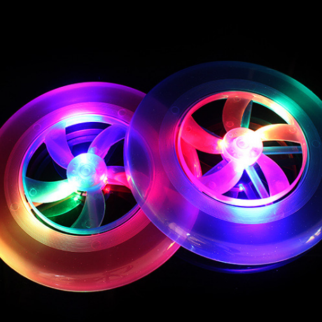 Flash disc ufo frisbee with rotating propeller for kids dogs adults