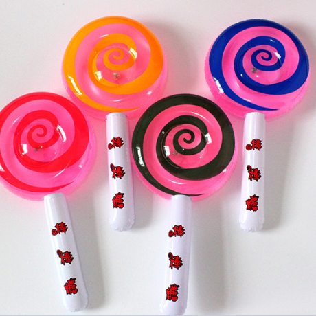 Glow inflatable flash lollipop air stick