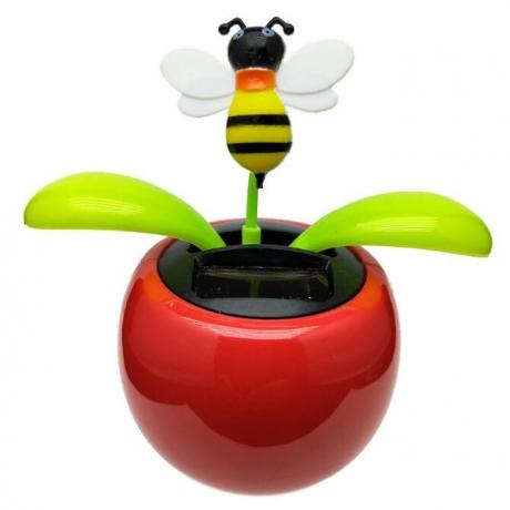 Solar energy swing bee for gift