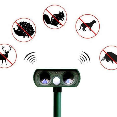 solar powered motion  activated  snake repeller electronic cat repeller dog repeller