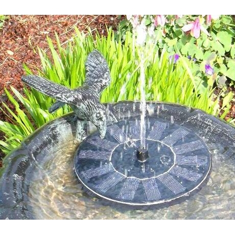 solar driven floating fountain