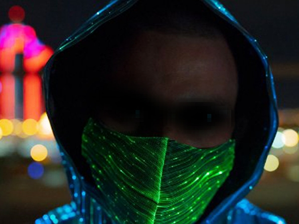 LED colorful flashing fiber face mask (M-63)