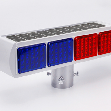 Integrated solar warning light