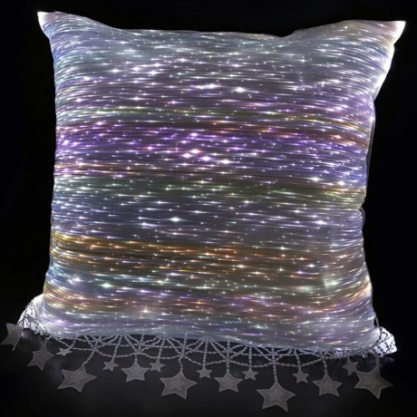 High class gift whole body optical fiber luminous light pillow