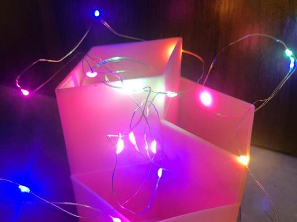 2m 20 led copper lamp string fitted with battery for decoration