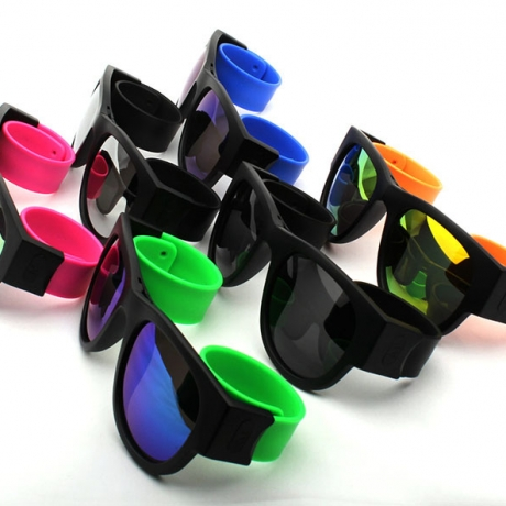 Customized logo print Wrist Silicone Fold Sunglasses (LFG-11)