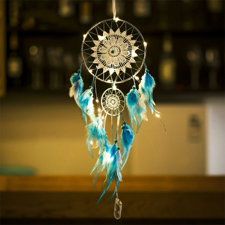 Warm light effect LED strings decorative dreamcatcher (No.LD-001)