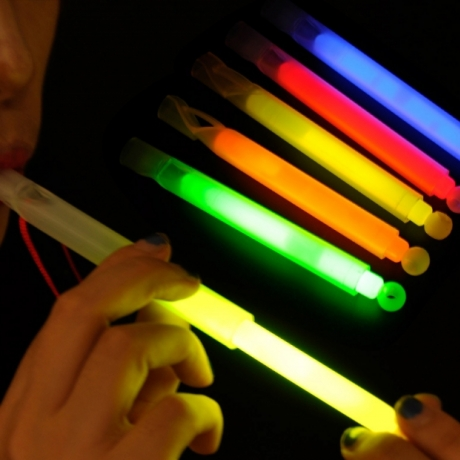 Colorful Fluorescent glow stick whistle for kids