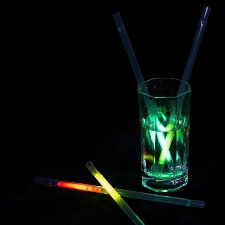Bar favor Glow in dark drink straw