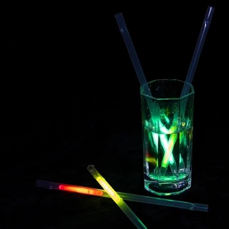 Bar favor Glow in dark drink straw