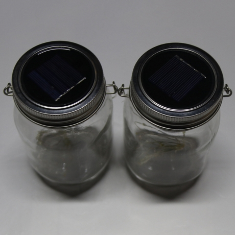 Solar Powered Mason Jars with 4pcs bright led light  (LUL-007)
