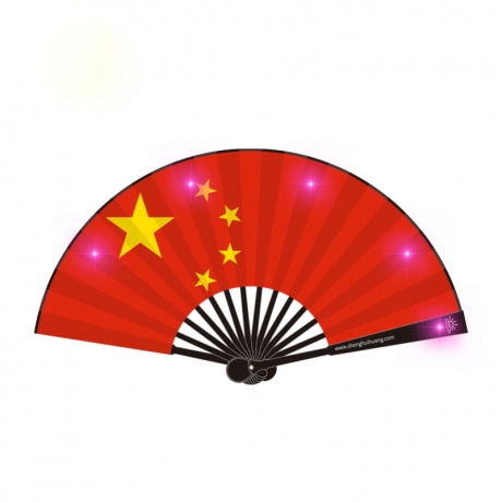 National Flag design USB charging LED foldable fan