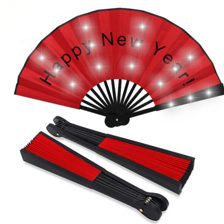 Holiday decoration USB charging LED foldable fan