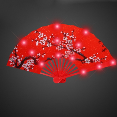 Chinese style USB charging LED foldable fan