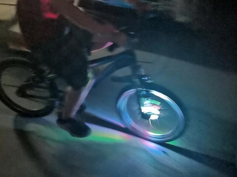 This wheel light is special for bike riding