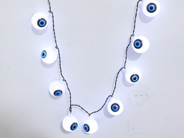 Halloween style led light string necklace