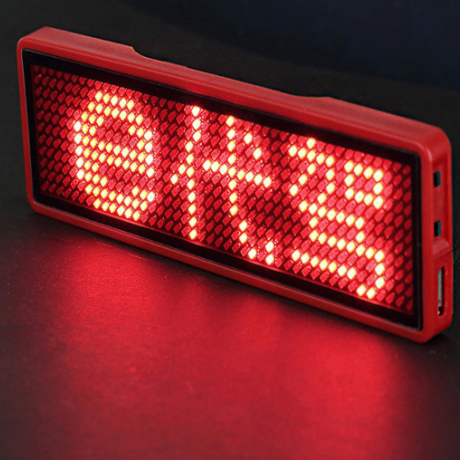 diy message mini led display badge with bluetooth