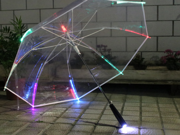LED light umbrella for advertisement