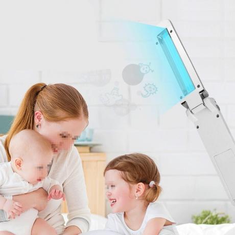 Safe to carry portable folding ultraviolet sterilization lamp