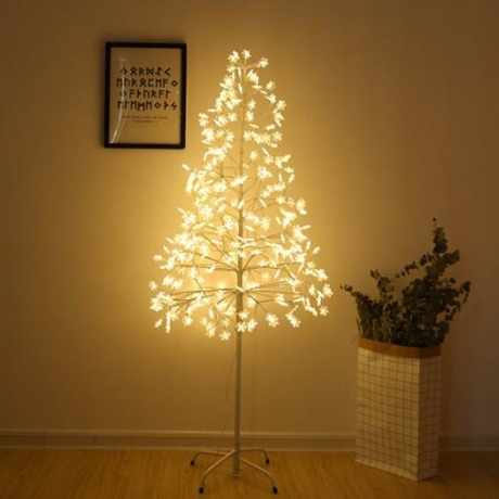 Led light snowflake tree lamp