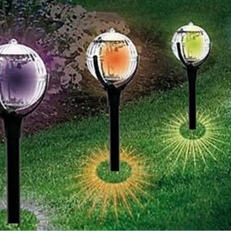 solar lawn lights:where to plug in where bright