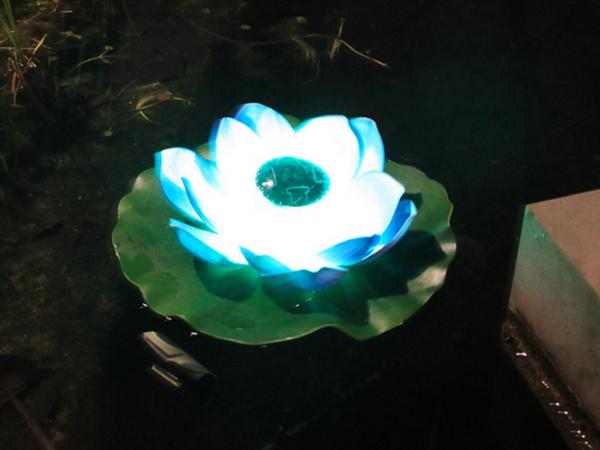 Solar wish led lotus lamp