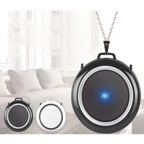 Double negative circle shape air purifier necklace