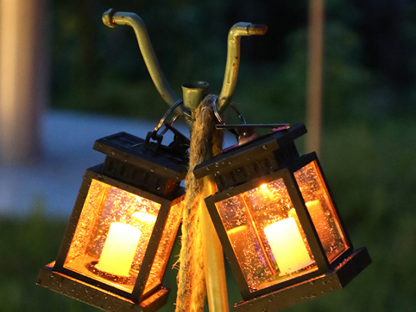 Solar candle lamp decorative lantern