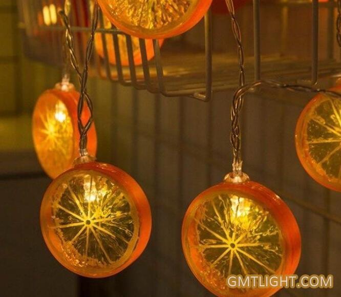 lemon slice decorative light string