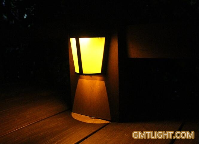 solar decorative landscape wall lamp