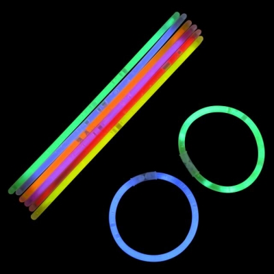 8 GLOW BRACELET COMBINED WITH CONNECTOR (100pcs per tube)