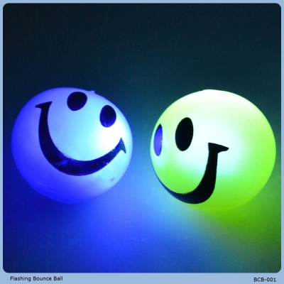 Customized logo led blinking bouncing ball