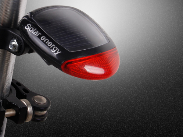 Solar LED bicycle tail lamp