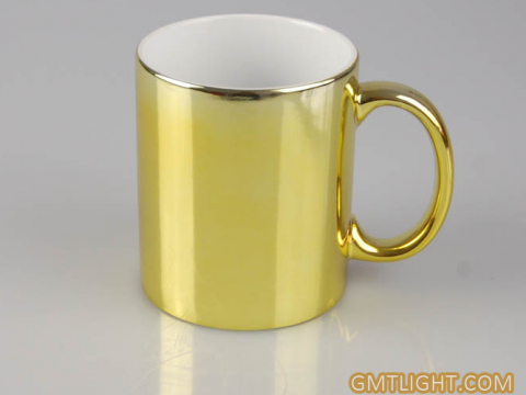 Gold plated ceramic mug: creating a sense of life for local tyrants