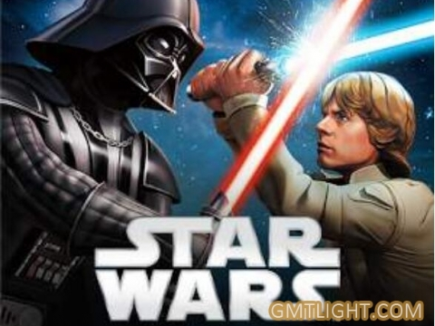 Star Wars shooting and its lightsaber