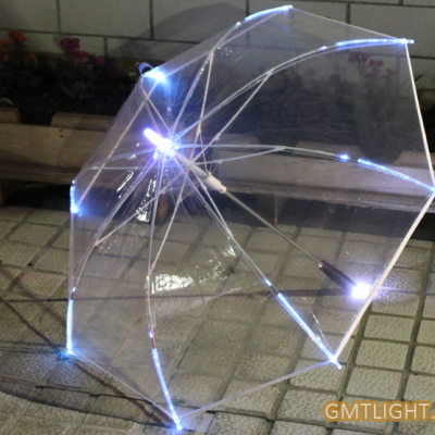 LED light transparent umbrella