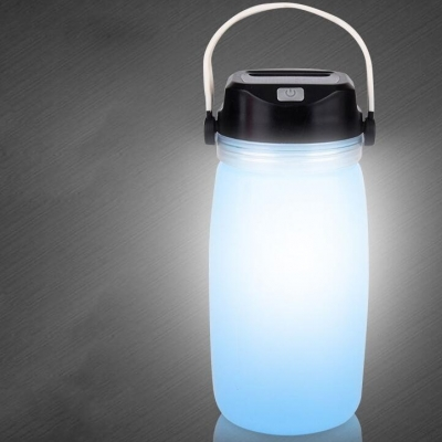 Solar battery with silica gel drinking cup lamp multifunctional