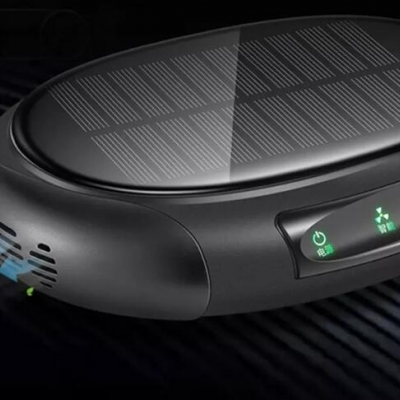 Solar charging negative ion air purifier for automobile car