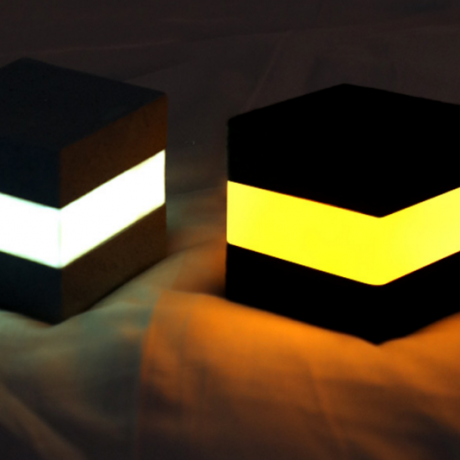 Cubic rechargeable night light for bar