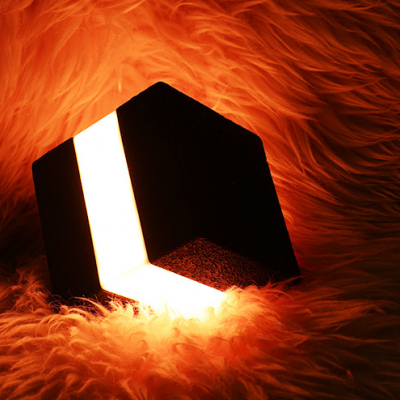 square cubic rechargeable night lamp for bar (48pcs/lot)