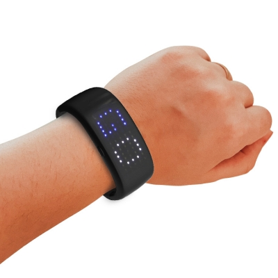 LED pattern display scroll bracelet (60 pcs/lot)