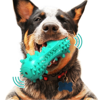 Sound type dog toothbrush toy (100 pcs/lot)
