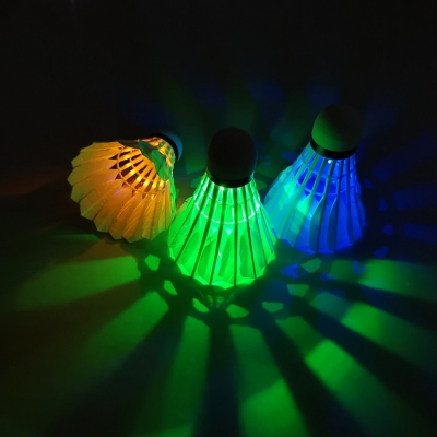 Light up feather made night practice LED badminton (400pcs/lot)