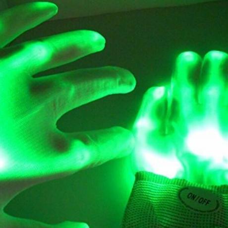 LED luminous flash gloves for performance