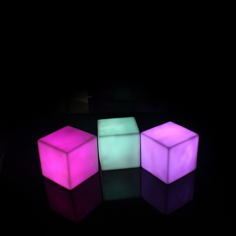 Colorful Led Furniture Flashing Cube With Remote Control